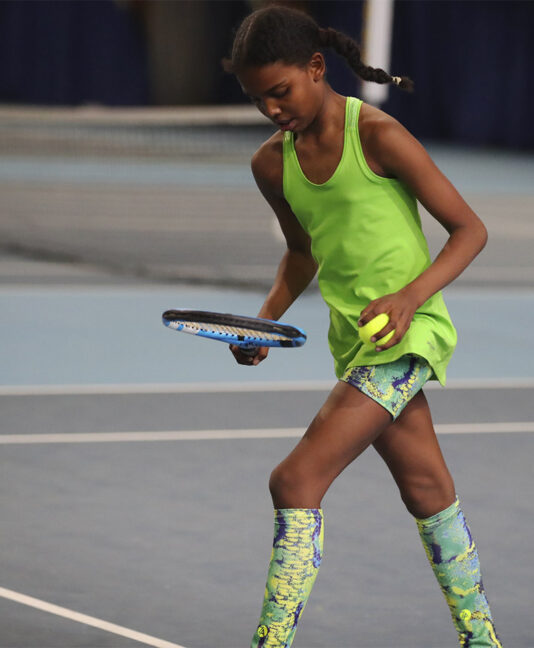 green tennis tank top for girls Zoe Alexander