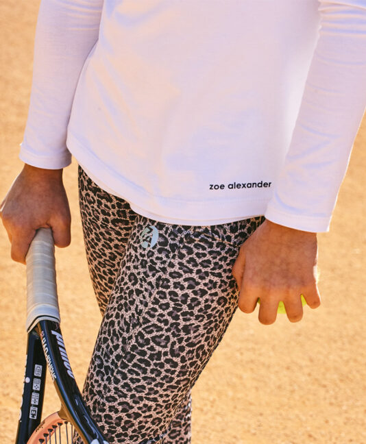 leopard capri pants girls tennis cropped leggings zoe alexander uk