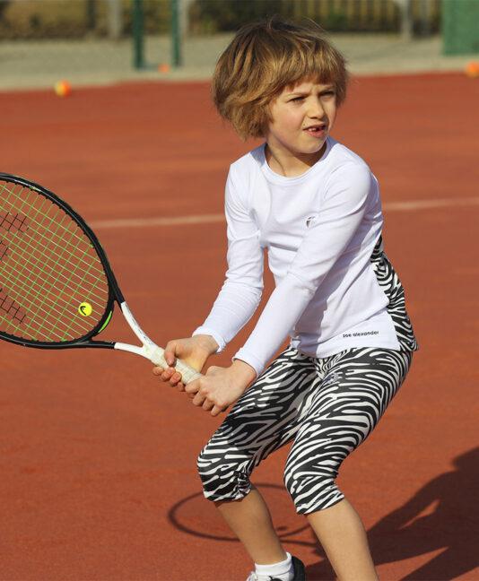 cropped zebra print tennis leggings zoe alexander uk