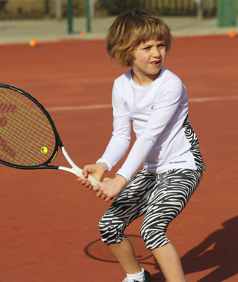 cropped zebra print tennis leggings zoe alexander uk