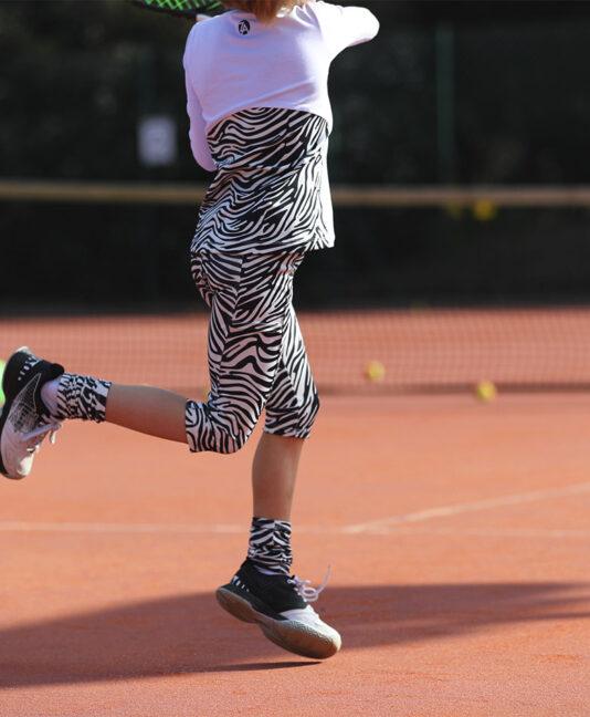 girls cropped tennis leggings zebra by zoe alexander