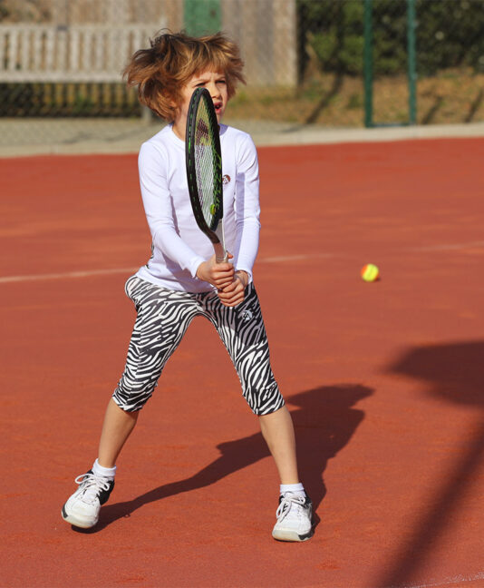 zebra tennis clothes for girls cropped capri pants zoe alexander