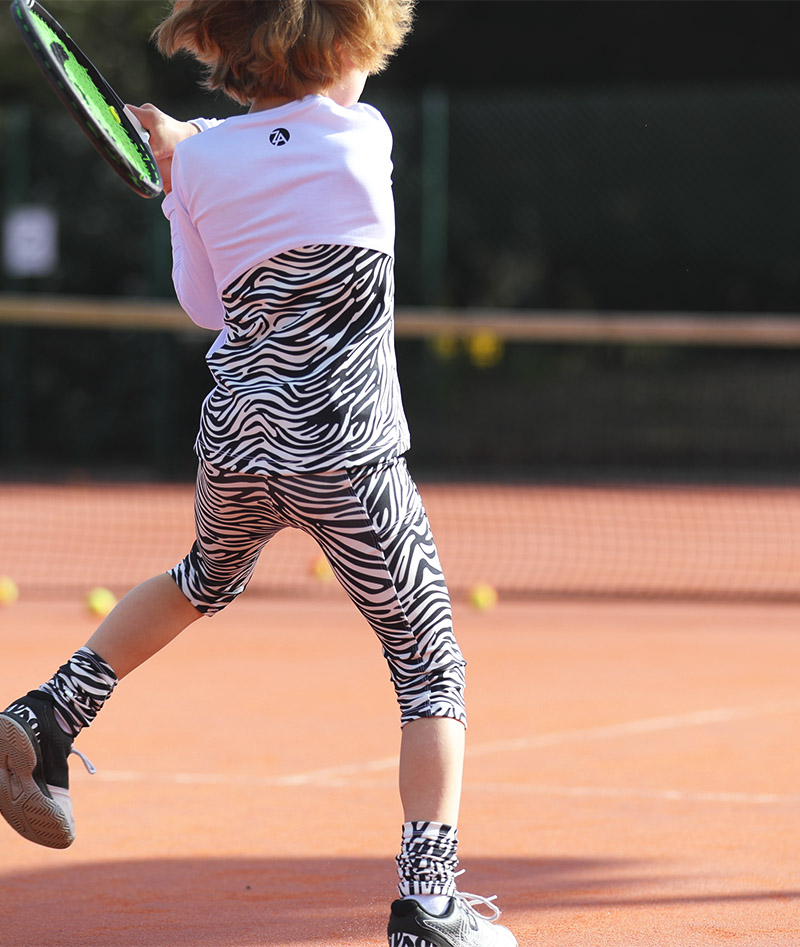 za tennis zebra capri pants cropped leggings zoe alexander uk