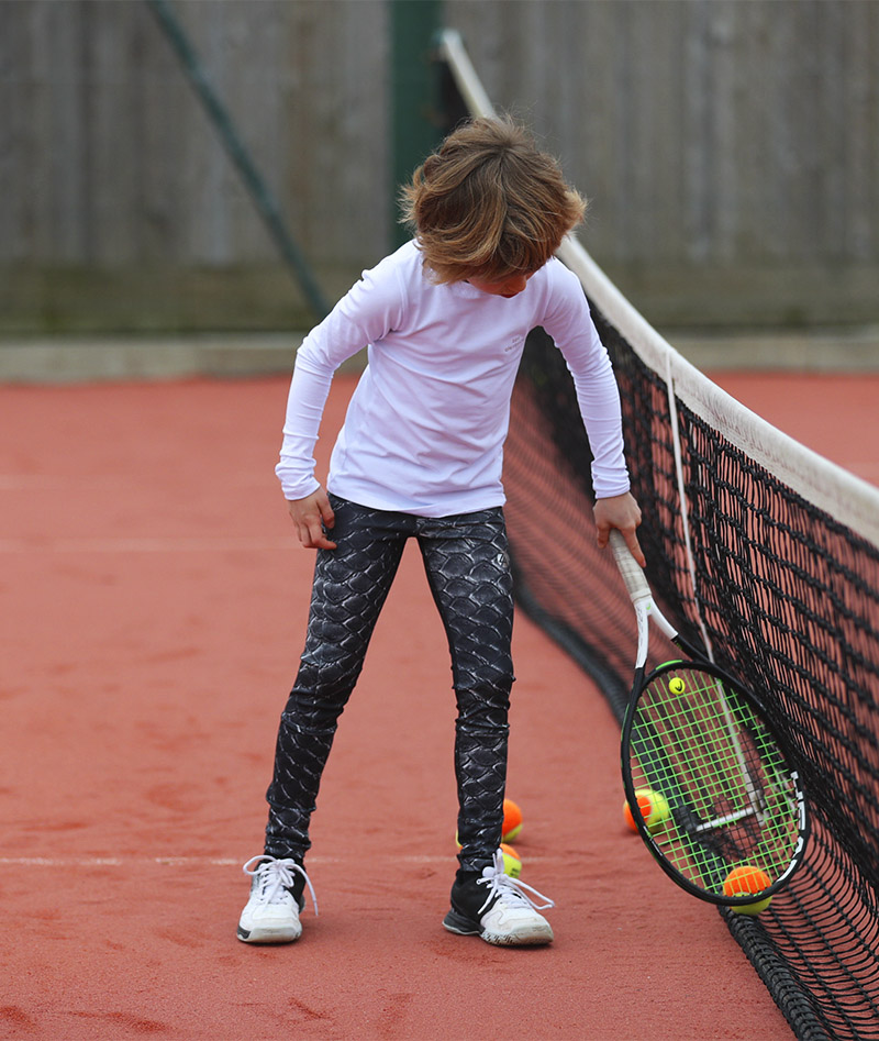 crocodile print tennis leggings for girls zoe alexander