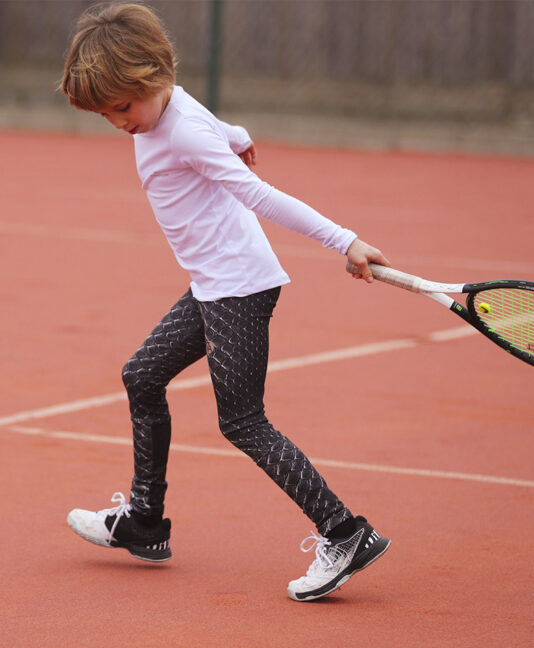 girls tennis log pants crocodile print zoe alexander