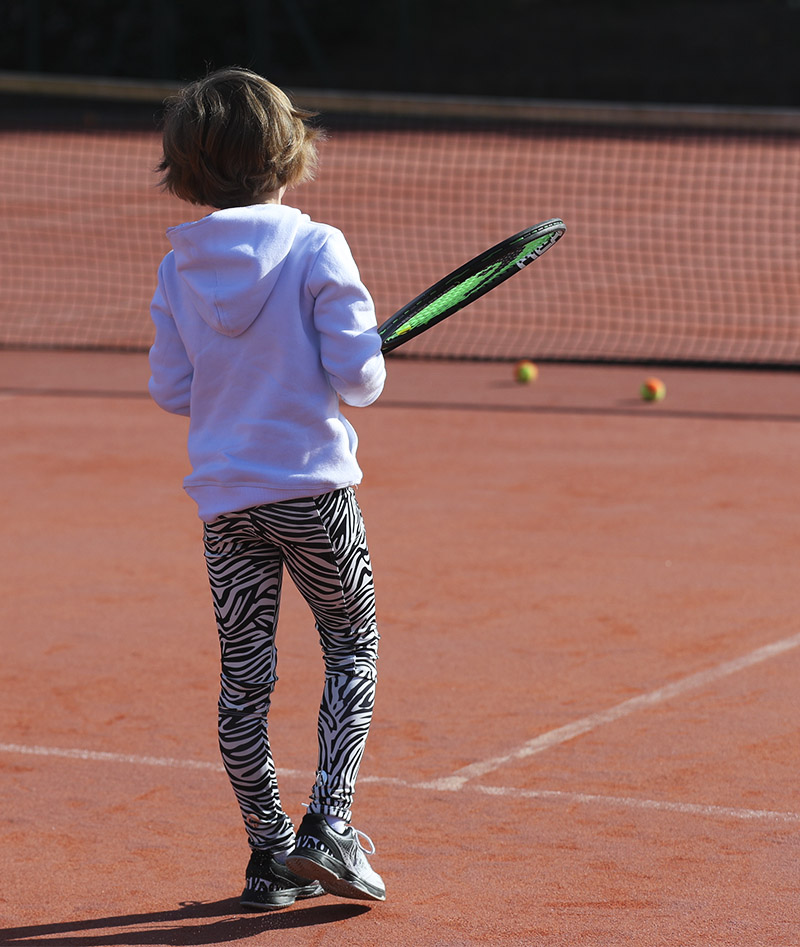 zoe alexander zebra tennis leggings