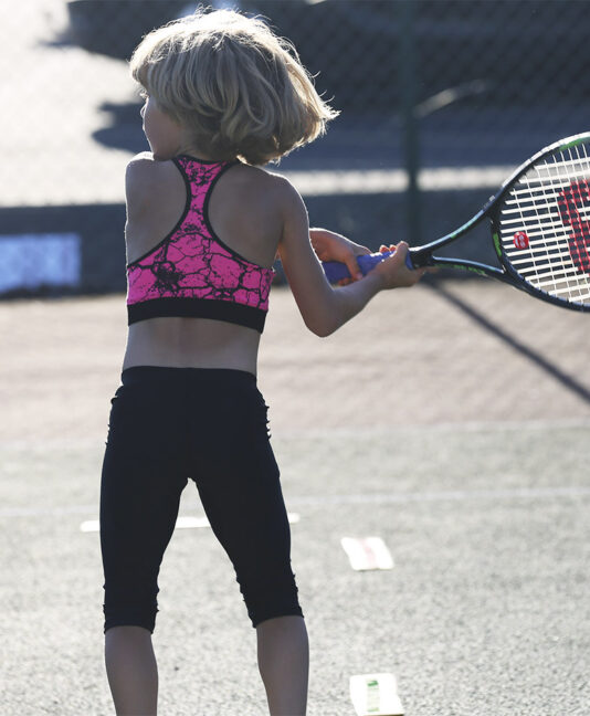 neon pink sports bra girls tennis zoe alexander uk