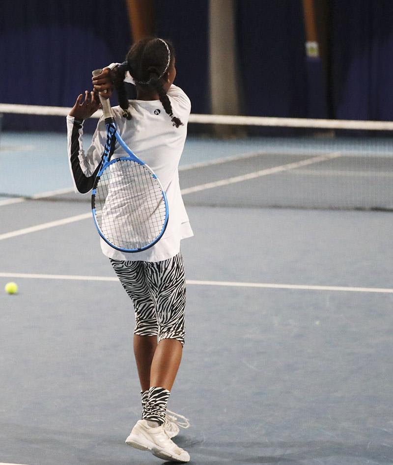 girls white tennis top long sleeve Bianca Zoe Alexander