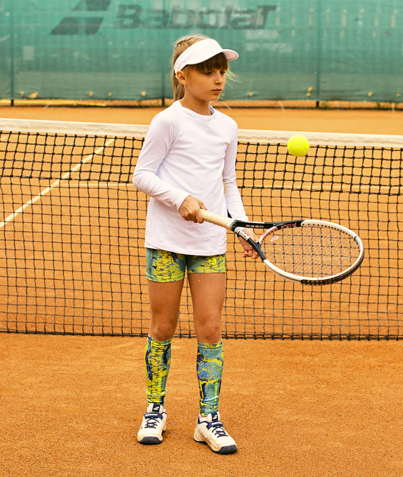 bianca white long sleeve girls tennis training top zoe alexander uk