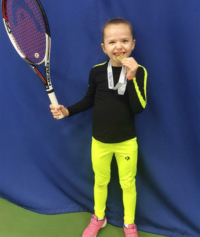black neon yellow tennis training top girls zoe alexander porter
