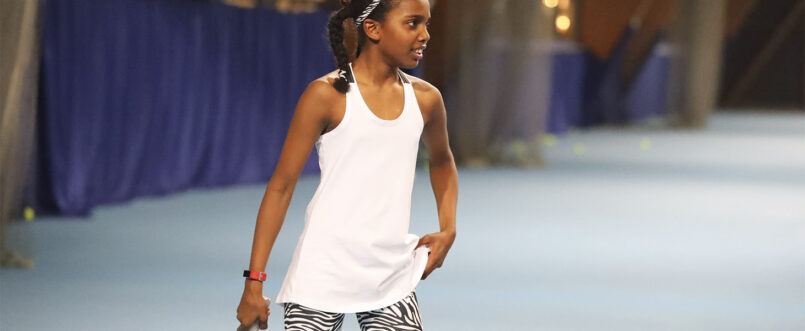 white tennis tank top vest Zoe Alexander uk
