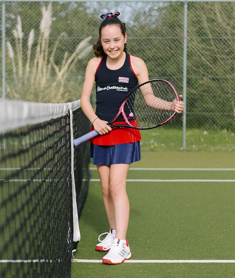 anya taylor team gb girls tennis dress zoe alexander uk