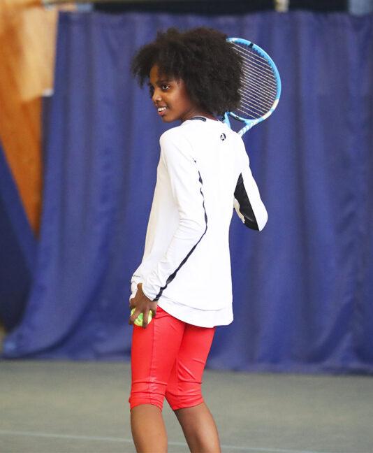 electric red cropped tennis leggings capri pants zoe alexander uk