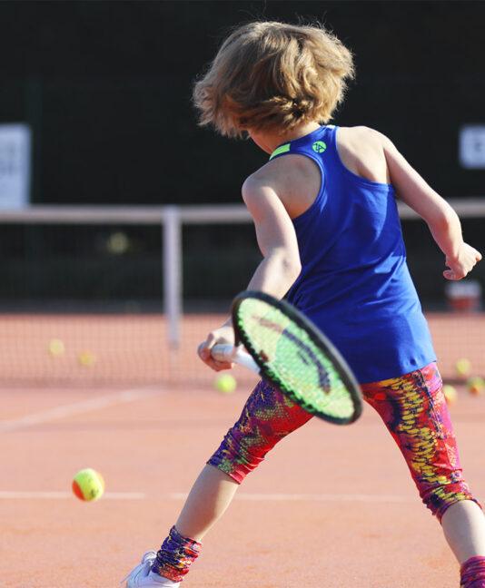 cool blue tennis tank top vest energy girls tennis cropped capri pants zoe alexander