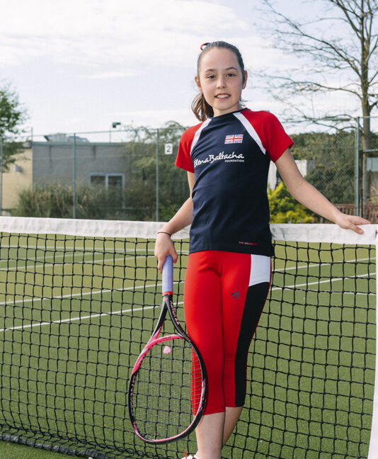 girls tennis tee shirt top cropped leggings team gb anya zoe alexander