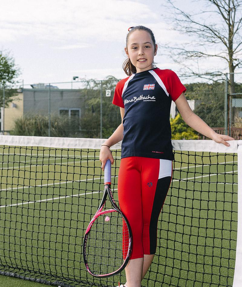 girls tennis tee shirt top cropped leggings team gb anya zoe alexander