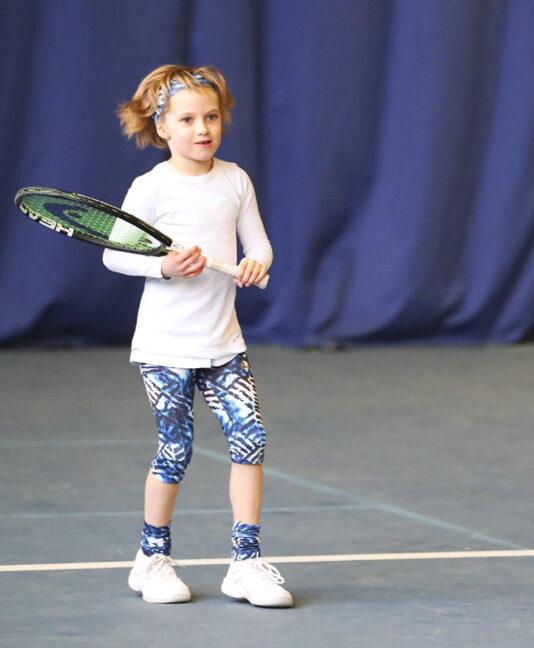 blue vipa cropped tennis leggings for girls Zoe Alexander