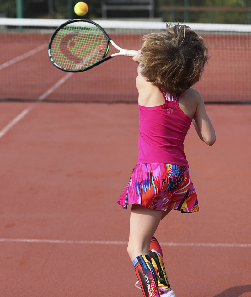 Girls Pink Tennis Dress Racerback Simona | Zoe Alexander