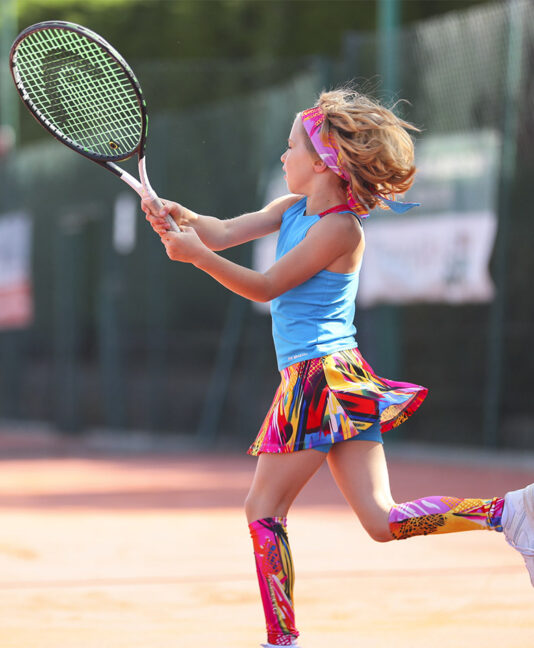 girls tennis dress pink blue simona zoe alexander uk