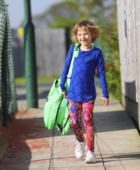 girls tennis long leggings ball pocket energy zoe alexander uk