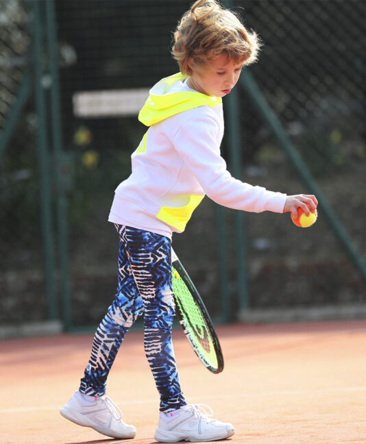 blue vipa tennis long leggings Zoe Alexander