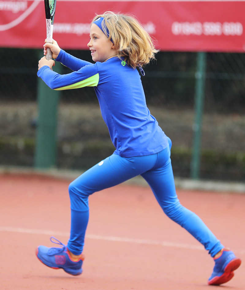 girls long sleeve training tops blue Zoe Alexander