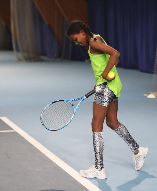 green tennis vest girls black snakeskin tennis hot pants shorts with ball pocket Zoe Alexander