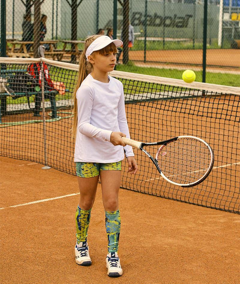 green snakeskin girls tennis shorts ball pocket zoe alexander uk