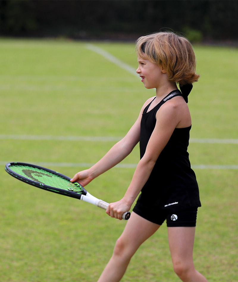 girls black tennis tank top vest judy zoe alexander uk
