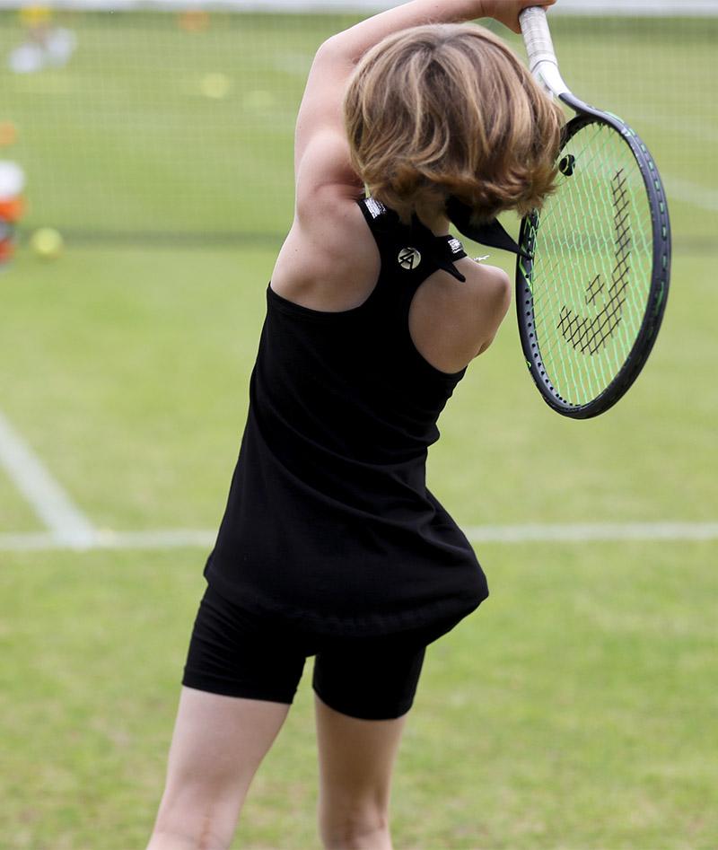 girls black tennis tank top vest judy zoe alexander uk