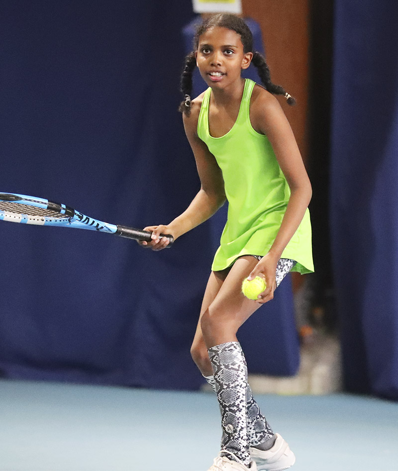 pistachio green girls tennis tank top tennis vest Zoe Alexander