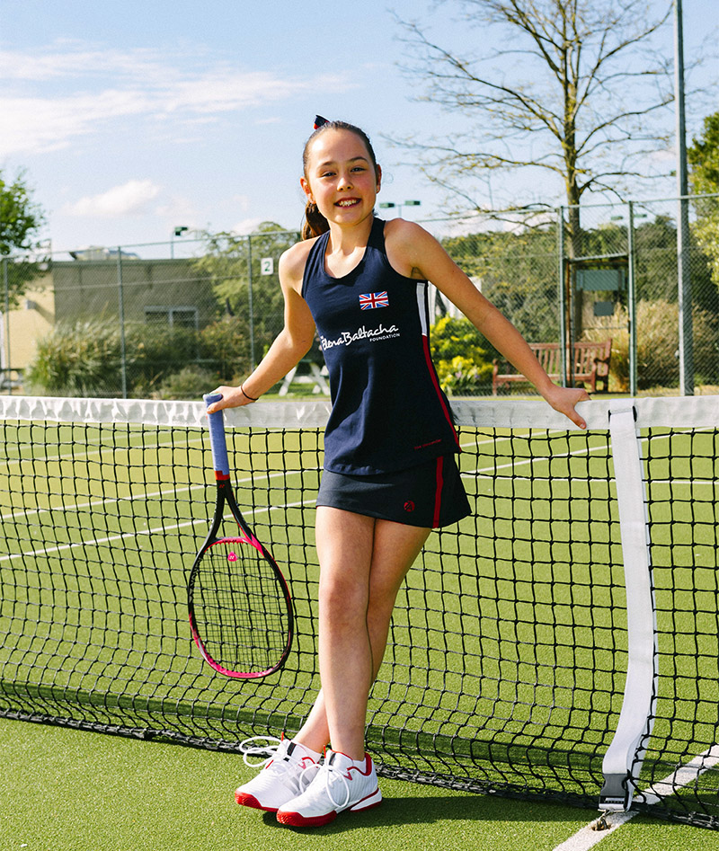 girls tennis tank top vest team gb anya zoe alexander