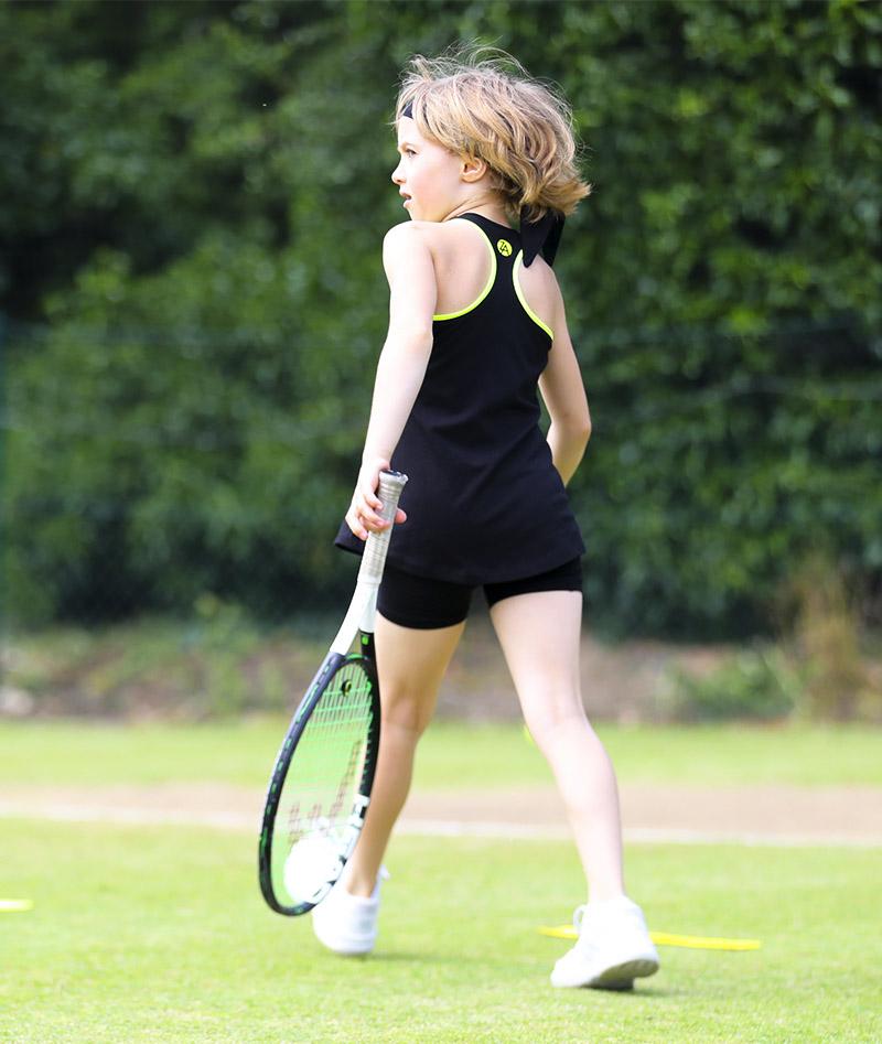 girls black tennis tank top vest daria zoe alexander uk
