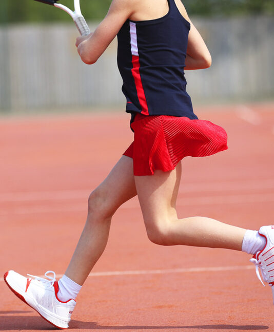 girls plisse tennis skirt team gb anya by zoe alexander uk