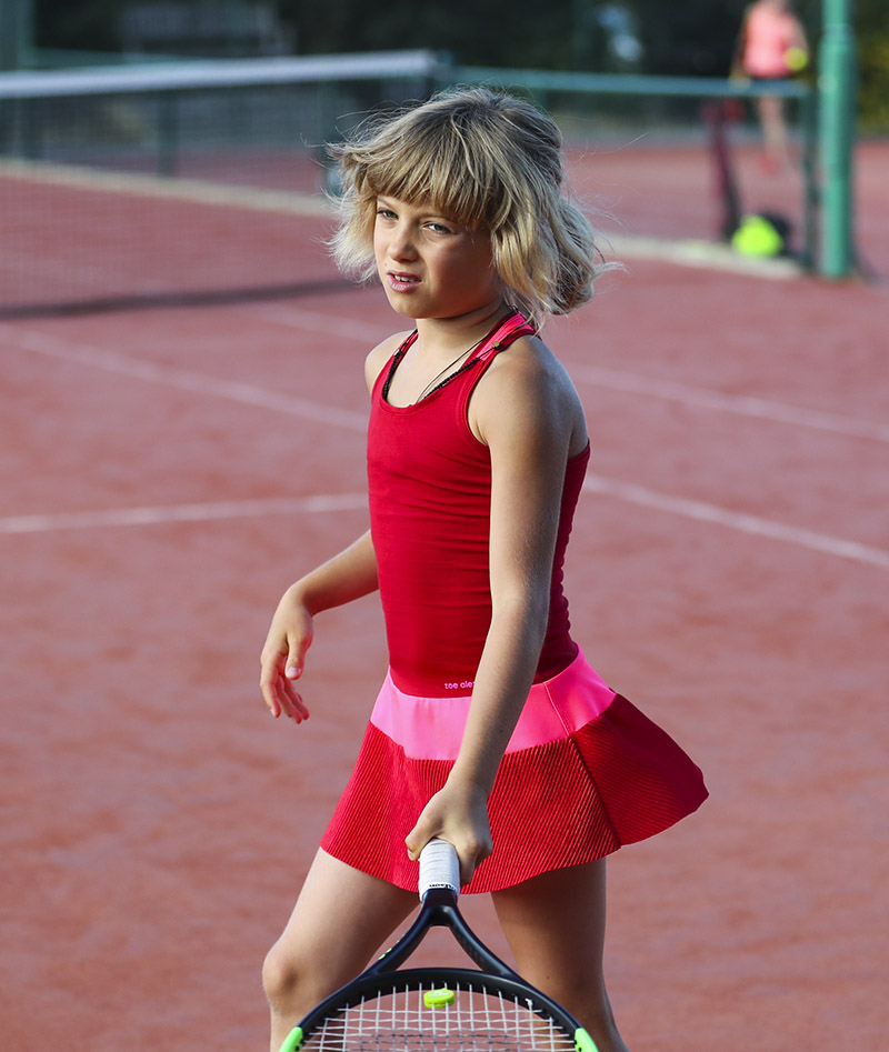 red tennis dress belinda zoe alexander uk