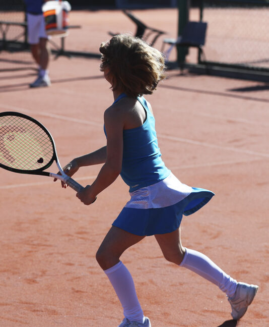 amanda aqua blue tennis dress zoe alexander