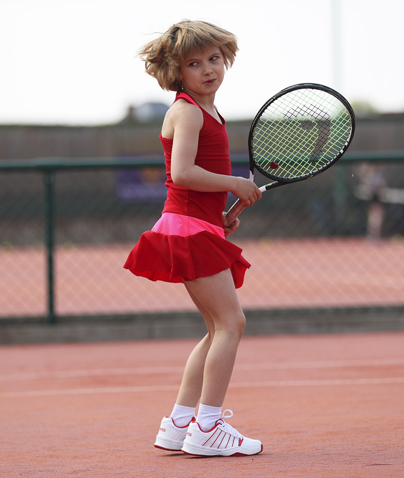 girls red tennis dress zoe alexander