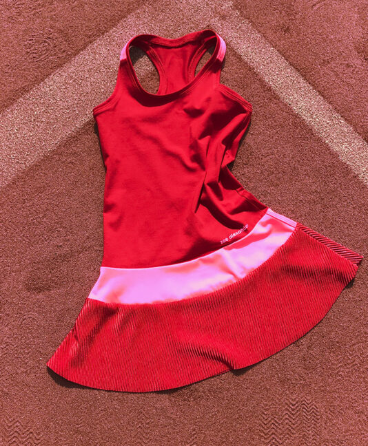 girls red tennis dress belinda zoe alexander uk