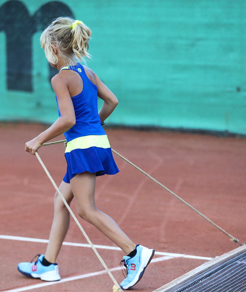 dayana blue girls tennis dress zoe alexander uk