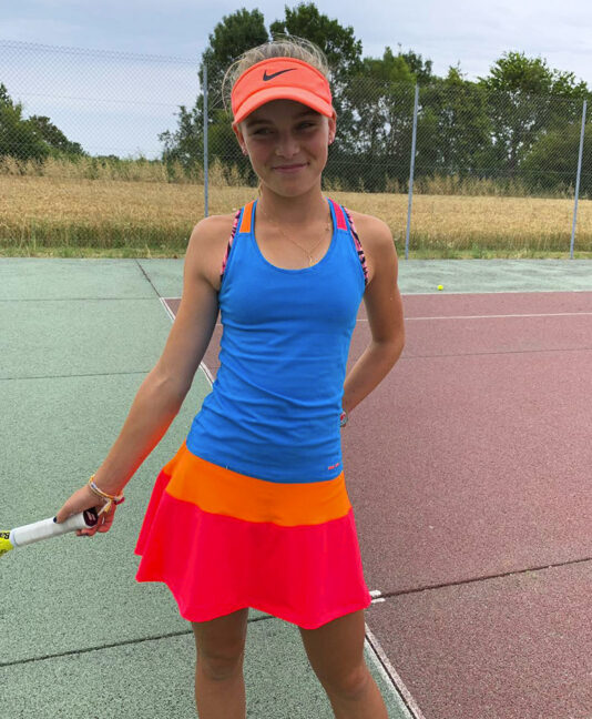 chloe blue neon girls tennis dress zoe alexander uk