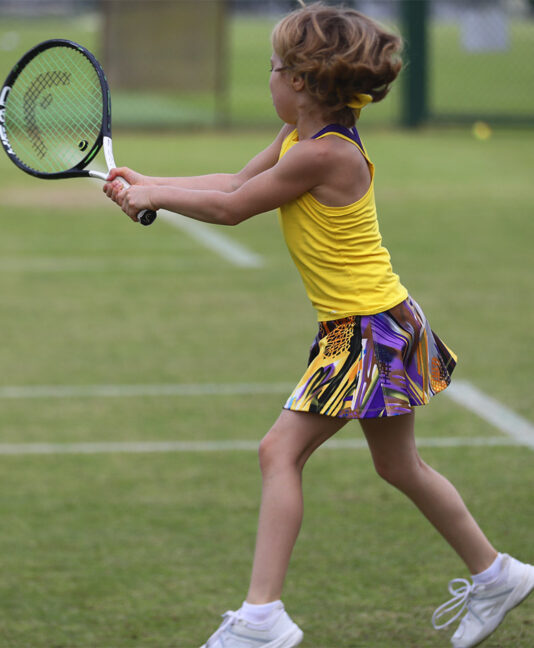 yellow viviana print tennis dress zoe alexander