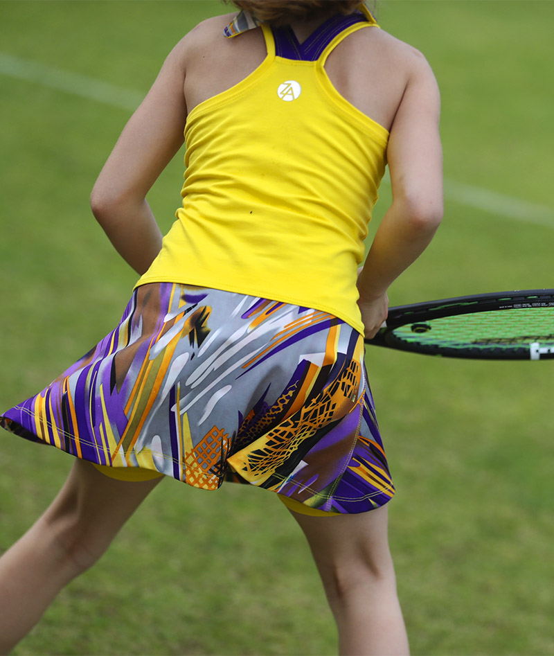 yellow tennis dress zoe alexander viviana vivid