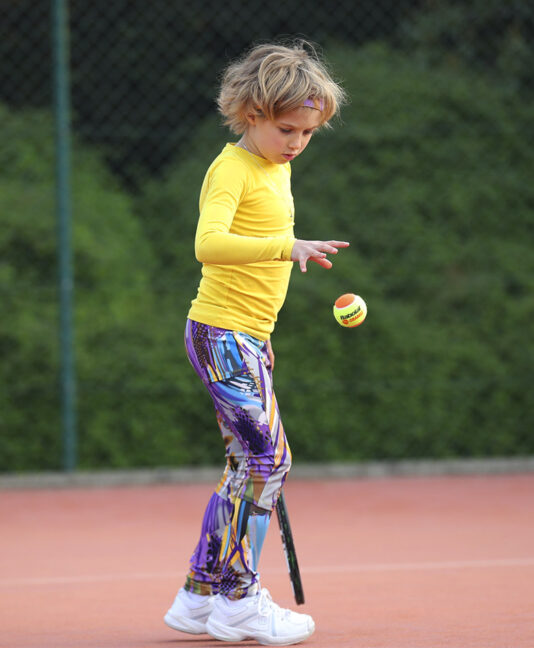 vivid violet long tennis leggings girls zoe alexander uk