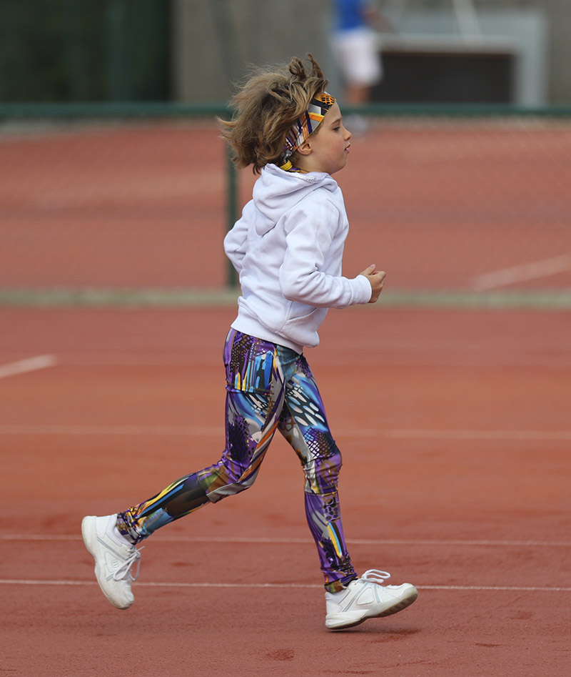 vivid violet long tennis leggings girls VIVIANA zoe alexander uk