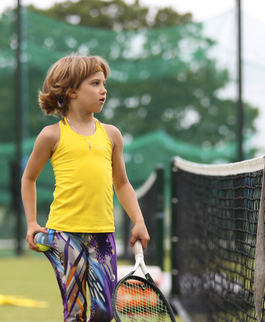 yellow tank vest top and viviana vivid girls long tennis leggings zoe alexander uk