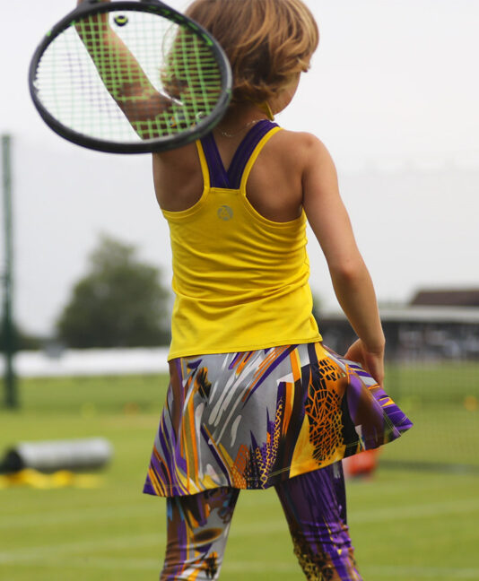 girls tennis dress yellow viviana zoe alexander uk