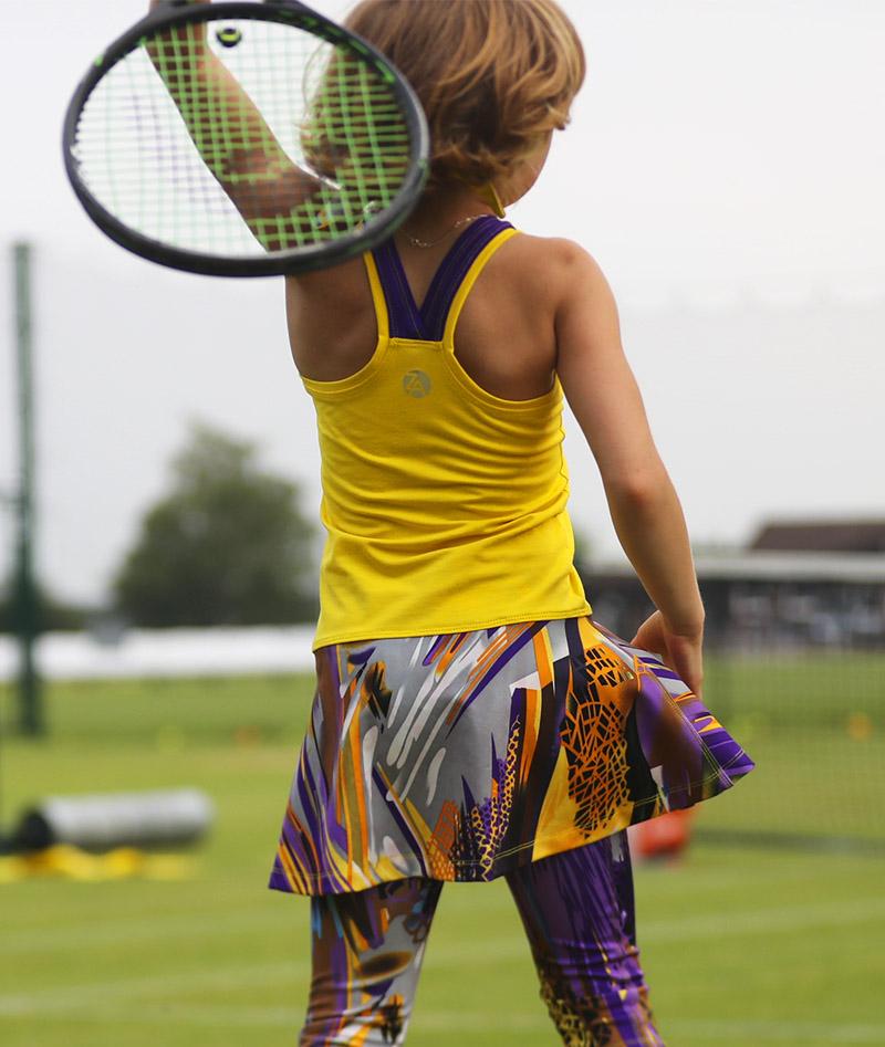 girls long tennis leggings vivid zoe alexander uk