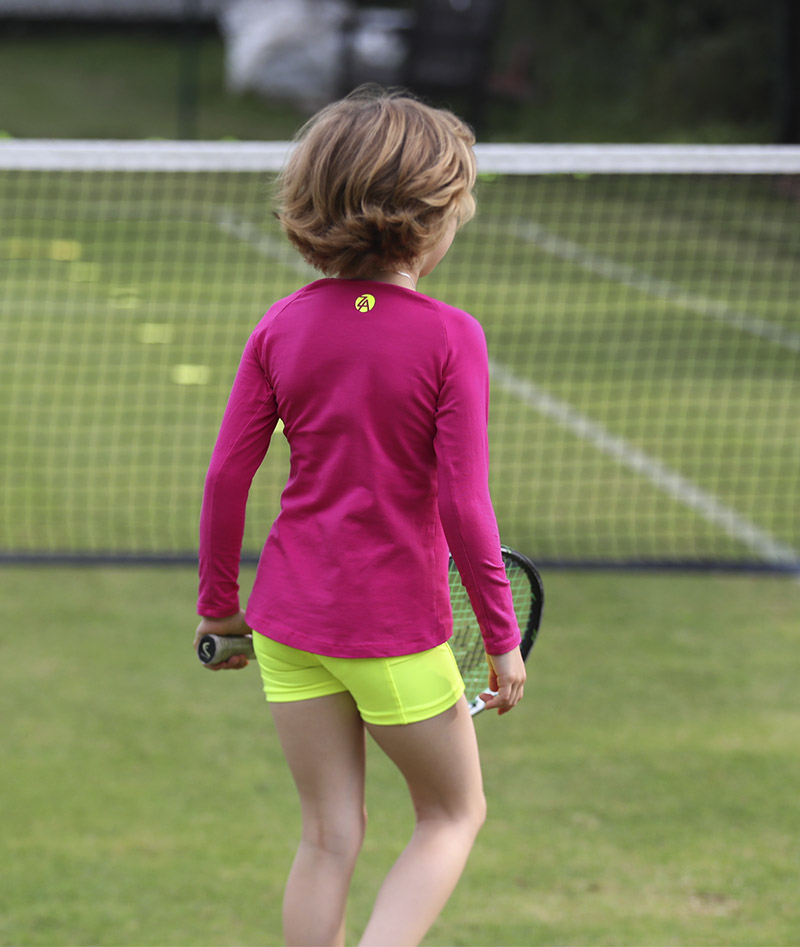 pink tennis training top jessica zoe alexander uk