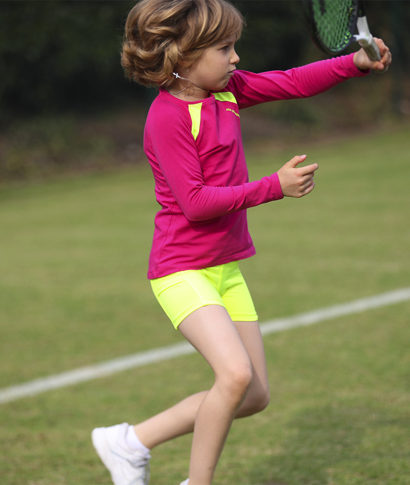 grils pink raglan tennis training top jessica zoe alexander uk