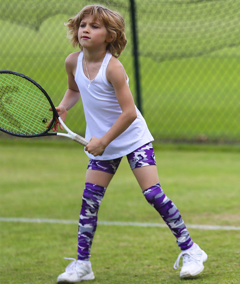 girls tennis shorts camo violet zoe alexander uk